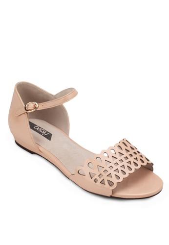 雕zalora 評價花踝帶涼鞋, 女鞋, 鞋