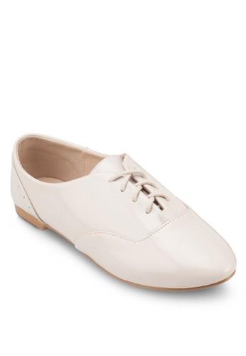 漆皮繫帶牛津鞋, 女鞋, 牛津鞋 &zalora 折扣碼amp; 雕花牛津鞋