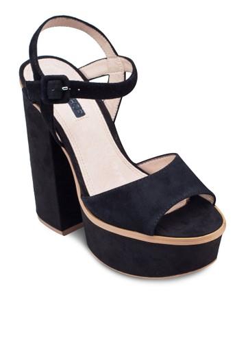 露趾繞踝厚底粗zalora taiwan 時尚購物網跟涼鞋, 女鞋, 鞋