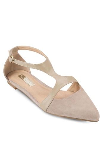 Sabbzalora 評價ath 側鏤空尖頭平底鞋, 女鞋, 鞋