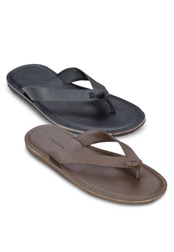 二入組扭結夾腳拖鞋, zalora 男鞋 評價鞋, 拖鞋