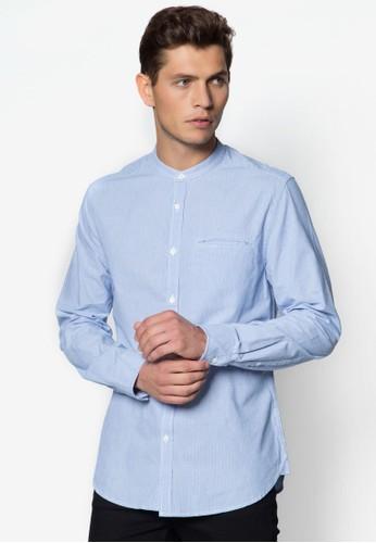 Rs 條紋長袖衫, 服飾,zalora 台灣 素色襯衫