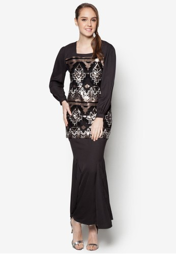 Lotus Baju Kurung from ARDA PUTRA in Black