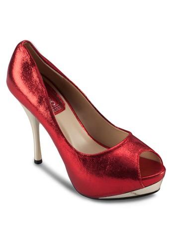 亮面魚口派對高跟鞋, 女zalora 鞋評價鞋, 鞋