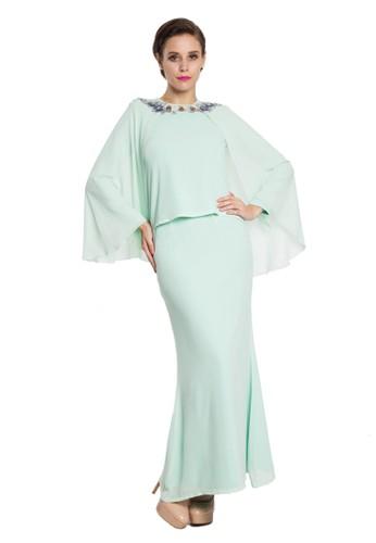 Conia Kurung Modern from Rina Nichie in Green