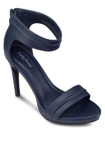 一字帶厚底繞踝高跟zalora 鞋評價鞋, 女鞋, 高跟