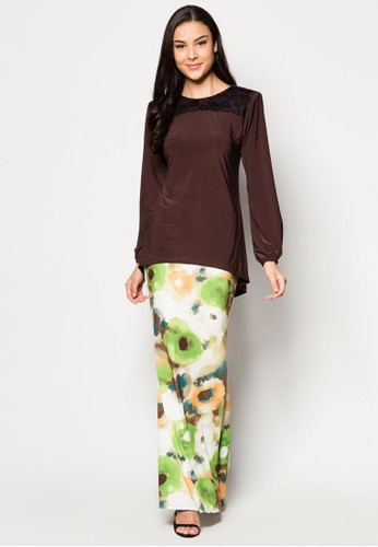 Thanuja Midi Kurung from Zuco Fashion in Brown
