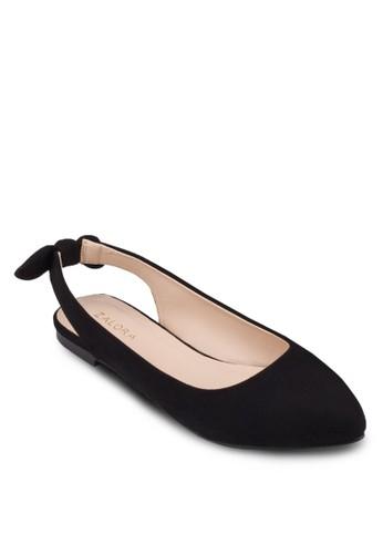 zalora退貨蝴蝶結繞踝平底鞋, 女鞋, 芭蕾平底鞋