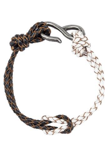 Men's Duo Color Leatzalora退貨her Wristband, 飾品配件, 飾品配件