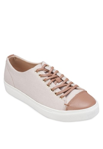 Leather Canvas Lace Uzalora 評價p Sneakers, 女鞋, 鞋