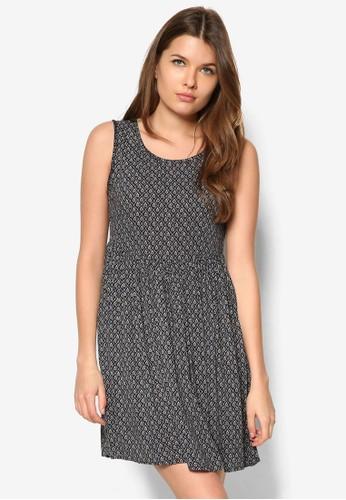 褶飾傘擺無袖mango服飾官網洋裝, 服飾, 服飾