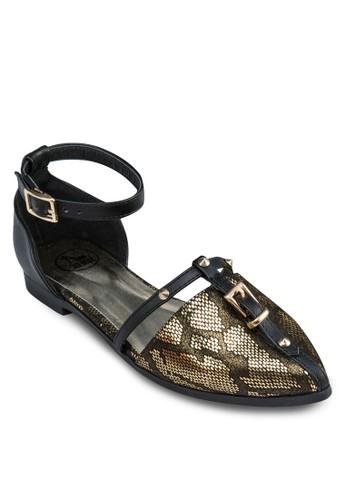 zalora開箱動物紋T字飾帶平底鞋, 女鞋, 鞋