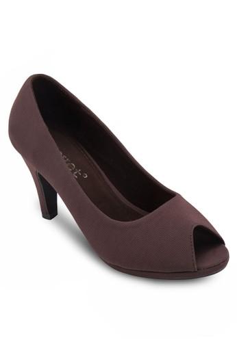 魚口布料高跟鞋,zalora 內衣 女鞋, 魚口鞋