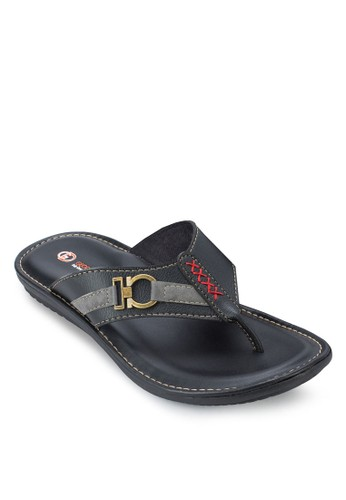 撞色縫線夾腳涼鞋, 鞋zalora鞋, 拖鞋