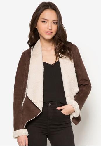 Petite 毛料翻zalora 衣服評價領外套, 服飾, 服飾