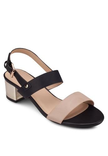踝帶方根涼鞋, 女鞋,zalora 衣服尺寸 低跟