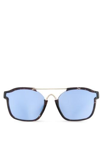 方框反光太陽眼鏡, 飾品zalora 評價配件, 方框