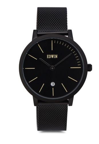 KENNY 雙指針不銹鋼圓錶, 錶類, 不銹zalora鞋子評價鋼錶帶
