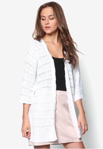 條紋針zalora 評價織開襟外套, 服飾, 外套