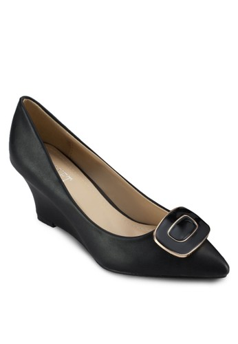 ClickIt Vonda 可拆式牌飾楔形跟鞋, 女鞋zalora 鞋評價, 厚底楔形鞋