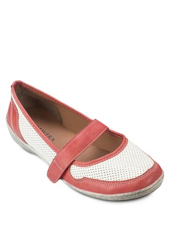Janine 魔鬼顫雙色沖孔船型鞋, 女鞋zalora退貨, 船型鞋