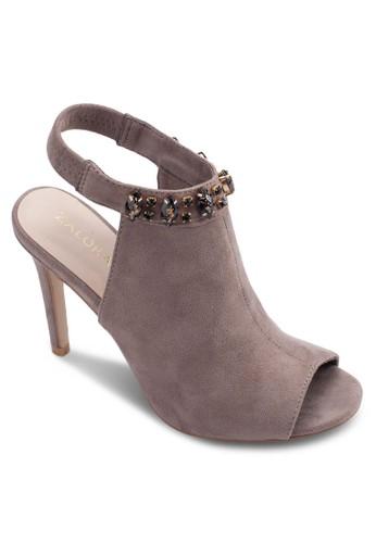 閃飾繞踝露趾高zalora 心得跟涼鞋, 女鞋, 鞋