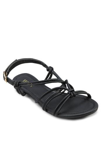 Nadia 多帶繞踝平zalora開箱底涼鞋, 女鞋, 涼鞋