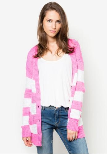 條紋針zalora 台灣織外套, 服飾, 毛衣& 針織外套