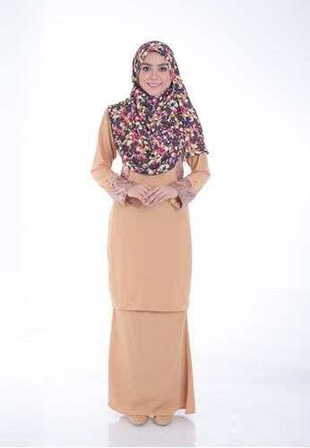 Arianna Modern Kurung from Saqma Boutique in Beige