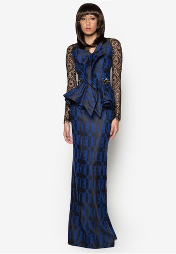 Kurung Rendang from Woo/Fiziwoo for Zalora in Blue and Navy