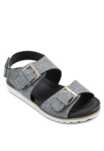 扣環繞踝涼鞋, 女鞋, zalora 鞋評價涼鞋