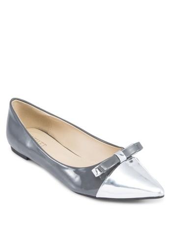 拼色蝴蝶結尖頭平底鞋, zalora退貨女鞋, 芭蕾平底鞋