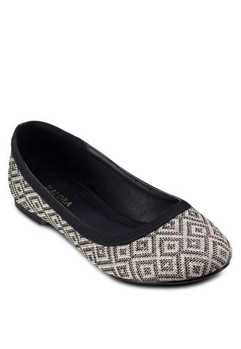 zalora 評價編織圖騰娃娃鞋, 女鞋, 芭蕾平底鞋