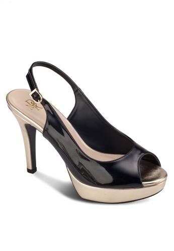露趾厚底繞踝高跟鞋, 女鞋zalora開箱, 鞋