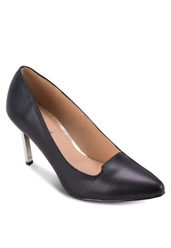 PU 尖頭亮面高跟鞋, 女鞋zalora鞋, 鞋
