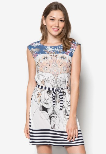 Irataua 條zalora 鞋評價紋印花洋裝, 服飾, 服飾