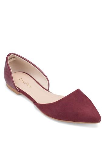 側鏤空尖頭娃娃鞋, 女鞋, zalora 順豐鞋