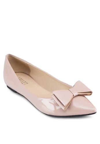 Bonnie 蝴蝶zalora開箱結尖頭平底鞋, 女鞋, 芭蕾平底鞋