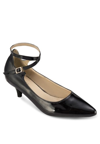 Matilda zalora 心得交叉扣環帶中根鞋, 女鞋, 厚底高跟鞋
