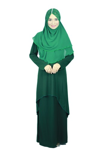 Aleyka Baju Kurung Dark Green from anisse in Green