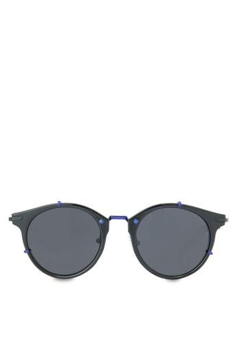 Ms.zalora 評價 Hannah 時尚圓框太陽眼鏡, 飾品配件, 飾品配件