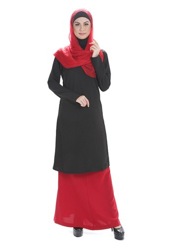 Rayannes Design Baju Kurung Top- Black from Rayannes Design in Black