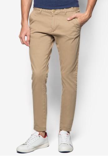 斜布休閒長褲, 服飾,zalora 心得 長褲