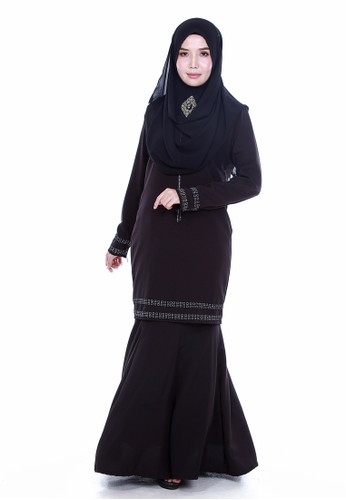 Kurung Nourisha from Farosa in Black