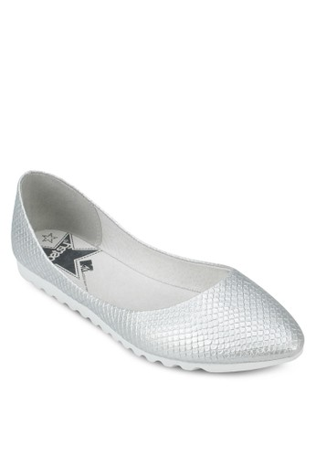 動物紋尖頭平底鞋, 女鞋, 芭蕾平底zalora 心得鞋