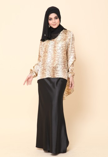 Mini Kurung Fishtail Leopard from Dirs in Brown