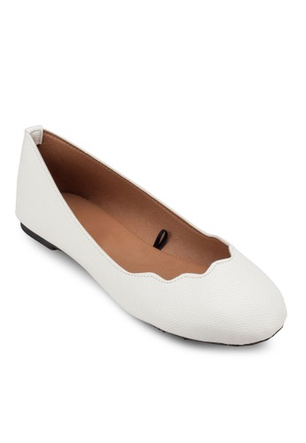 Sammy Scalloped Ballet Flatzalora 台灣s, 女鞋, 鞋