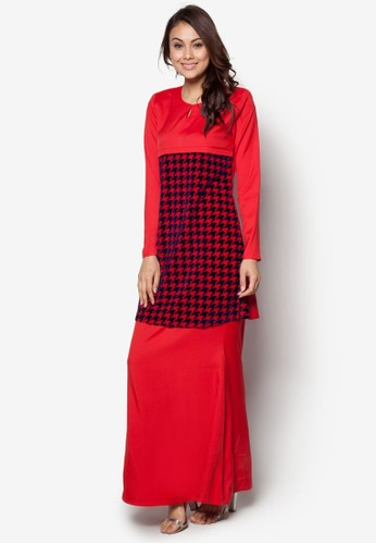 Baju Kurung Nursing from Gene Martino in Red