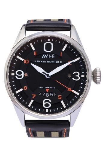 Hawker Harrier II 皮革腕錶, 錶類,zalora 心得 錶類