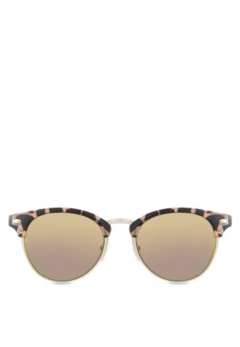Flintoft 豹紋zalora鞋子評價太陽眼鏡, 飾品配件, 復古框